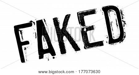 Faked rubber stamp. Grunge design with dust scratches. Effects can be easily removed for a clean, crisp look. Color is easily changed.
