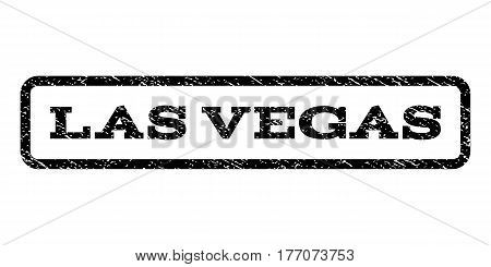 Las Vegas watermark stamp. Text tag inside rounded rectangle frame with grunge design style. Rubber seal stamp with scratched texture. Vector black ink imprint on a white background.
