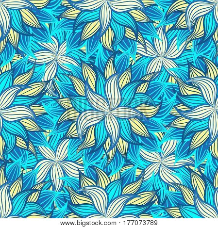 Seamless ornamental floral pattern. Decorative cute background with flowers.