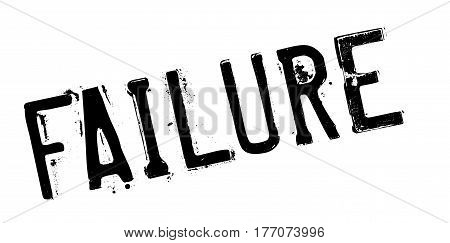 Failure rubber stamp. Grunge design with dust scratches. Effects can be easily removed for a clean, crisp look. Color is easily changed.