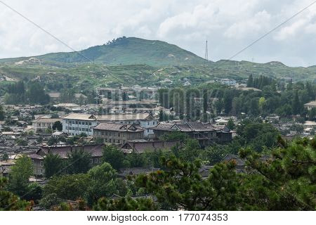 view of the city of Kaesong North Korea