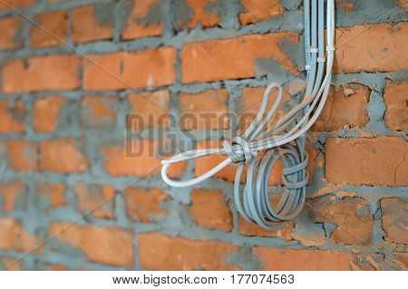 Wiring installation in a building. new house electrical work