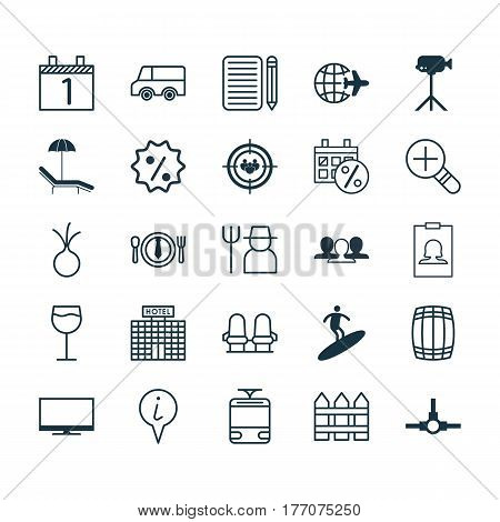 Set Of 25 Universal Editable Icons. Can Be Used For Web, Mobile And App Design. Includes Elements Such As Grower, Rebate Sign, Home Work And More.
