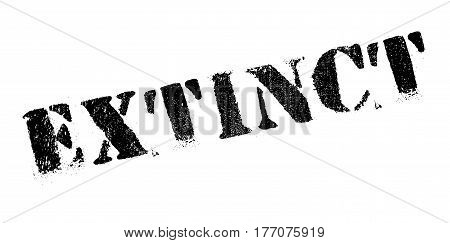 Extinct rubber stamp. Grunge design with dust scratches. Effects can be easily removed for a clean, crisp look. Color is easily changed.