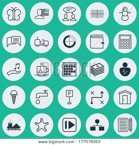 Set Of 25 Universal Editable Icons. Can Be Used For Web, Mobile And App Design. Includes Elements Such As Dialogue, Agrimotor, Roadsign And More.