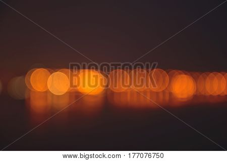Abstract golden bokeh background light blury background, river light