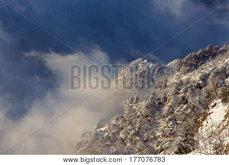 Snow, Mountains And Clouds In Savoy