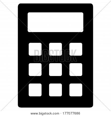 Calculator vector icon. Flat black symbol. Pictogram is isolated on a white background. Designed for web and software interfaces.