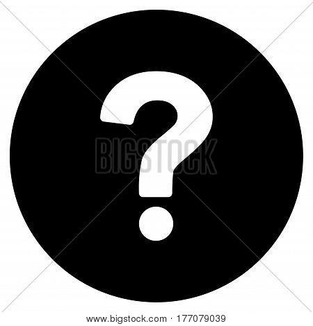 Query vector icon. Flat black symbol. Pictogram is isolated on a white background. Designed for web and software interfaces.