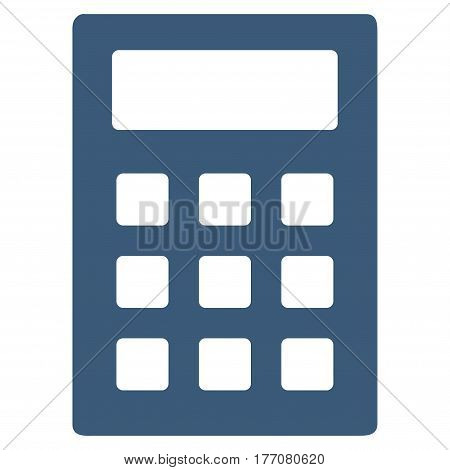 Calculator vector icon. Flat blue symbol. Pictogram is isolated on a white background. Designed for web and software interfaces.