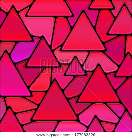 abstract vector stained-glass mosaic background - purple triangles