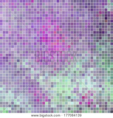 abstract vector square pixel mosaic background - violet and blue