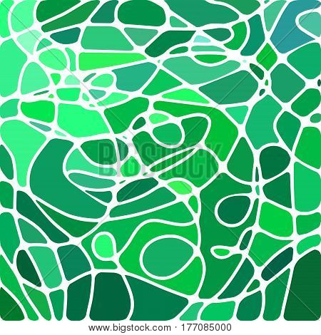 abstract vector stained-glass mosaic background - teal and green