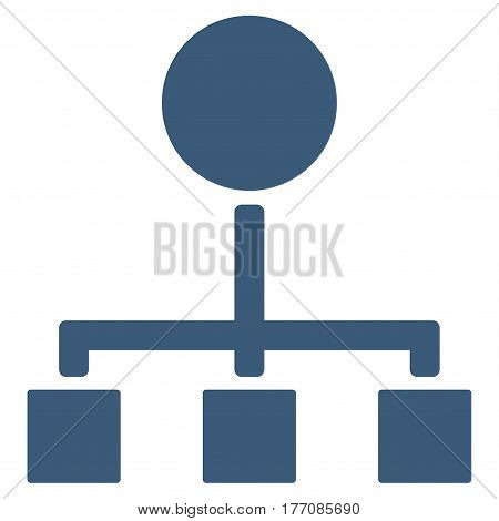 Hierarchy vector icon. Flat blue symbol. Pictogram is isolated on a white background. Designed for web and software interfaces.