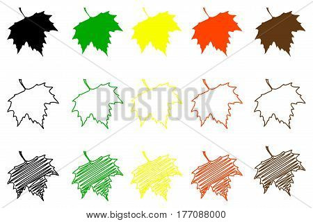 Sycamore leaf - color set , sycamore leaf