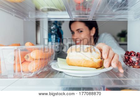 Woman Having An Unhealthy Snack