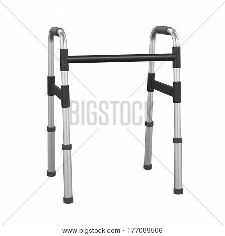 Adjustable Folding Walker isolated on background. 3D render