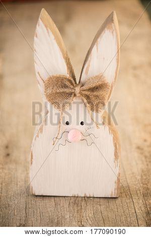 DIY handmade wooden easter bunny