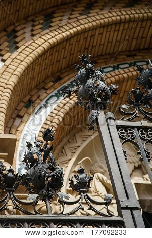 Details of architecture at Teruel, Aragon, Spain