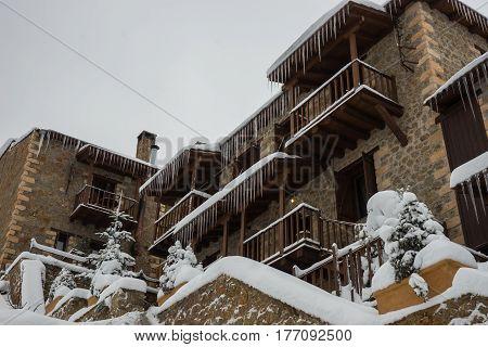 Winter at Trikala Korinthias on Peloponnese, Greece