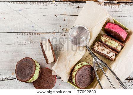 Ice Cream Sandwich With Whoopie Pie Cookies