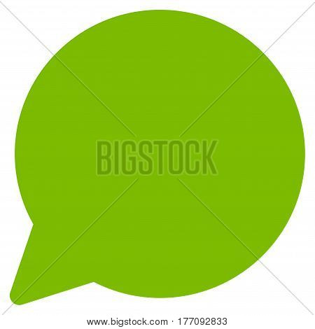 Hint Balloon vector icon. Flat eco green symbol. Pictogram is isolated on a white background. Designed for web and software interfaces.