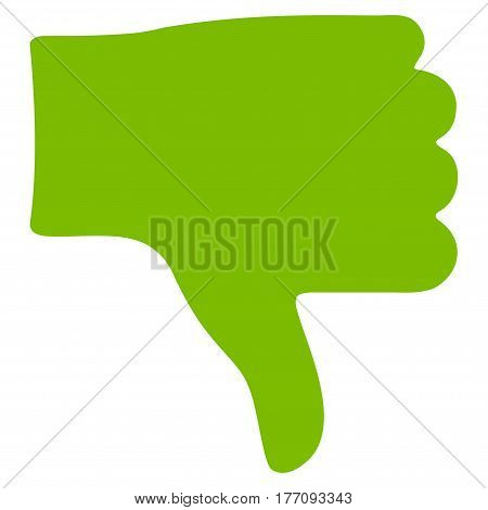 Thumb Down vector icon. Flat eco green symbol. Pictogram is isolated on a white background. Designed for web and software interfaces.