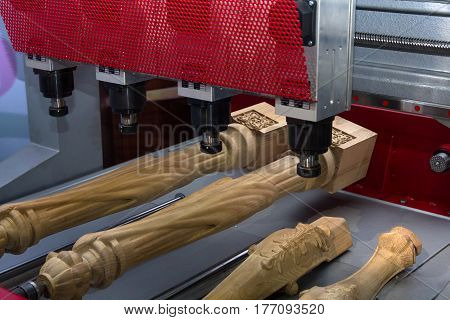 CNC machine in the production of furniture. Industry