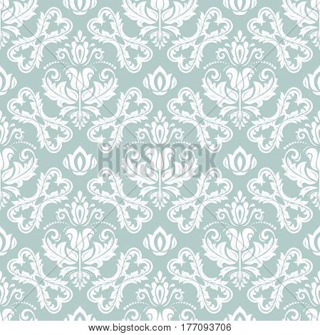 Classic seamless vector blue and white pattern. Traditional orient ornament. Classic vintage background
