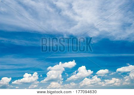 Blue Sky And White Cloud Fluffy