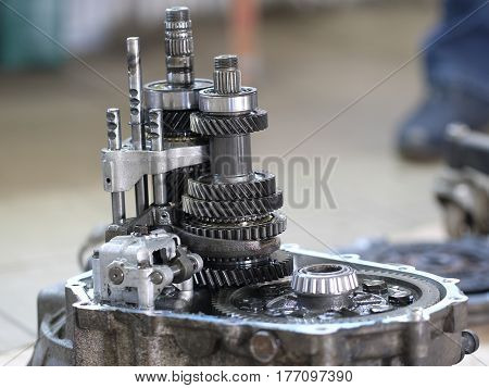 cross-section of car transmission