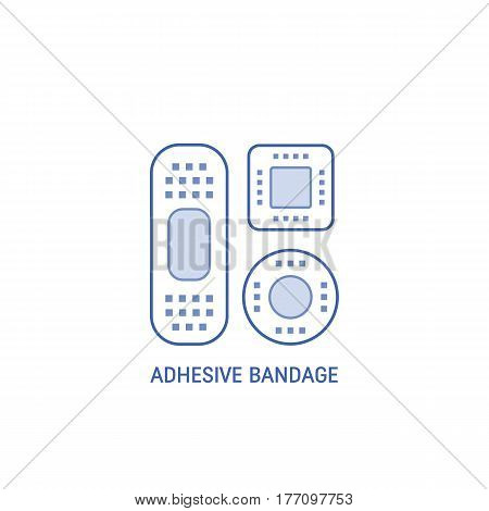 Bandage plaster icon isolated on white  background. Vector liner icons.