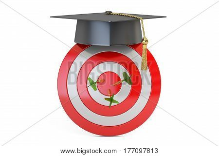 Graduation Goal Education Target Concept 3D rendering