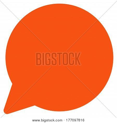 Hint Balloon vector icon. Flat orange symbol. Pictogram is isolated on a white background. Designed for web and software interfaces.