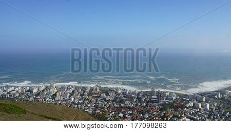 View from the Signal Hill on Cape Town and the Atlantic