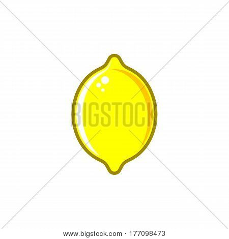 Simple creative vector lemon illustration isolated on white
