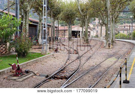 Railroad Depot in Palma de Sóller path