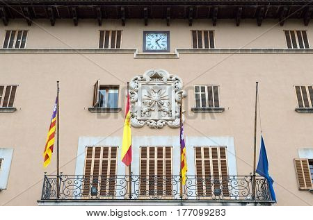 building of the city administration City Hall Palma de Sóller