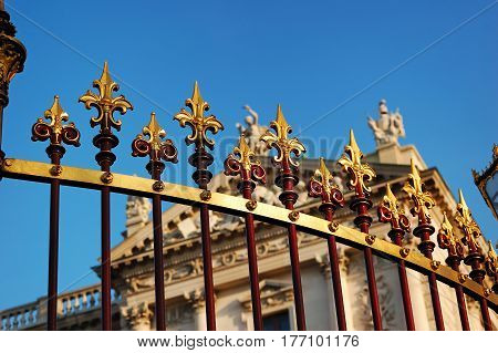 Decorative railing fence at Hofburg Palace Vienna Austria