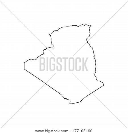 Algeria map silhouette illustration on the white background. Vector illustration