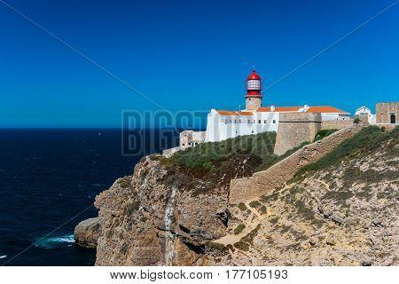 Cabo de Sao Vicente in Algarve Portugal