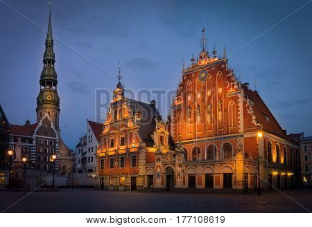House Of The Blackheads Is A Building Situated In The Old Town Of Riga, Latvia.