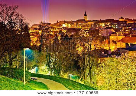 Zagreb Historic Upper Town Night View
