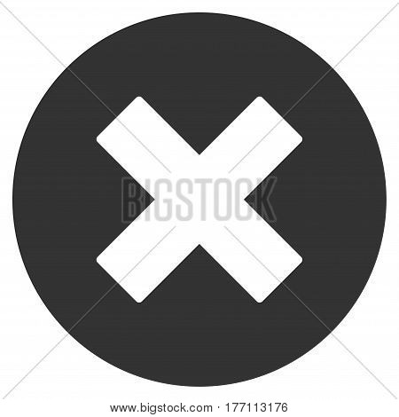 Cancel vector icon. Flat gray symbol. Pictogram is isolated on a white background. Designed for web and software interfaces.
