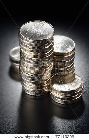 Silver Coin Stacks