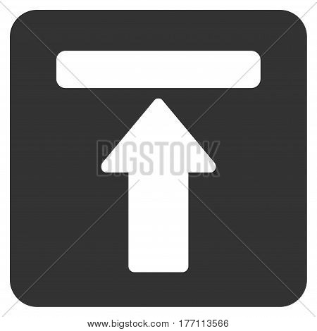 Expand Menu vector icon. Flat gray symbol. Pictogram is isolated on a white background. Designed for web and software interfaces.