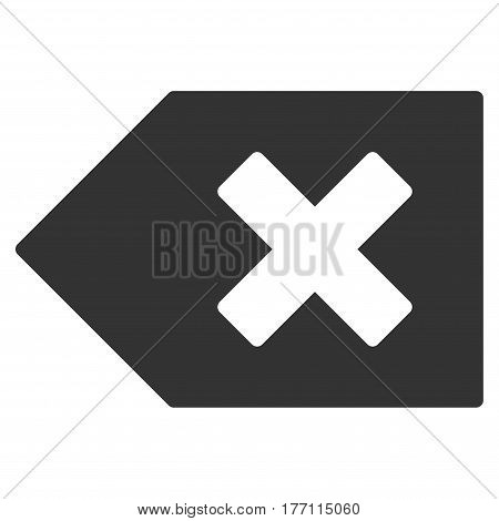 Backspace vector icon. Flat gray symbol. Pictogram is isolated on a white background. Designed for web and software interfaces.