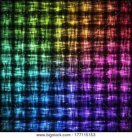 Rainbow Checkered Pattern with Light Effect. Colorful Bright Abstract Background for Site Web App Program.