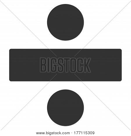 Divide Math Operation vector icon. Flat gray symbol. Pictogram is isolated on a white background. Designed for web and software interfaces.
