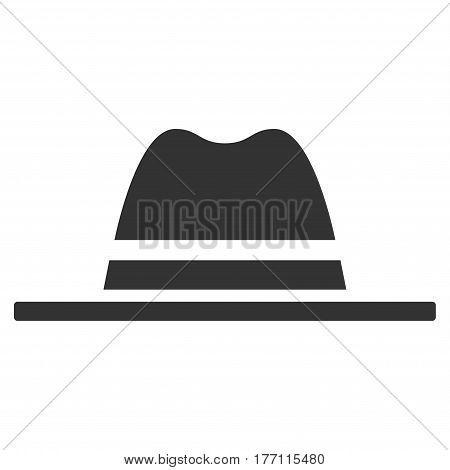 Hat vector icon. Flat gray symbol. Pictogram is isolated on a white background. Designed for web and software interfaces.